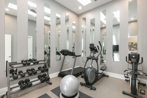 Second floor fitness center
