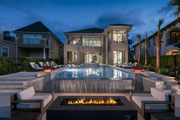 Swim in this luxurious infinity edge pool