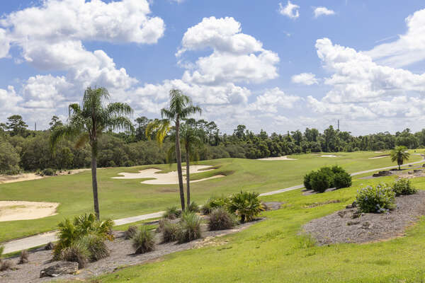 Look out onto the Jack Nicklaus Signature golf course