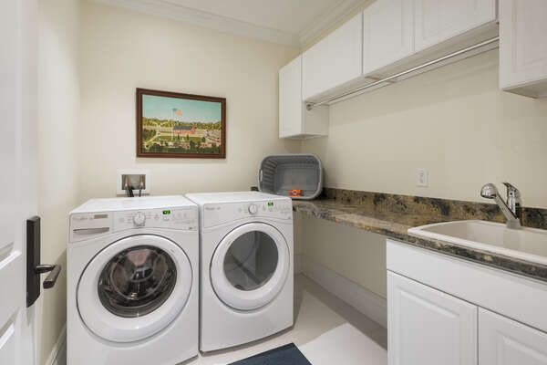 Laundry room located on the third floor