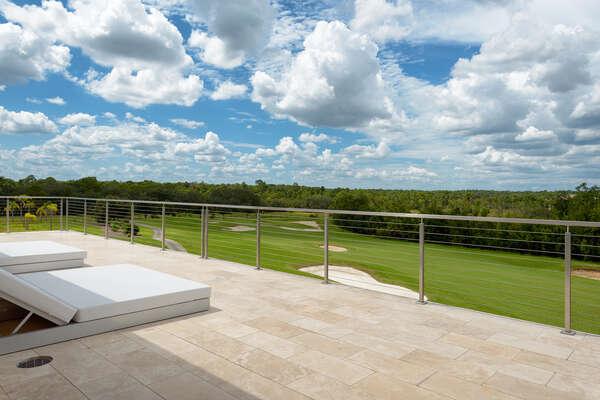 Breathtaking views from the patio balcony