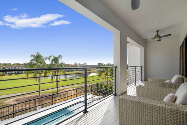 Enjoy unbeatable views from your private balcony