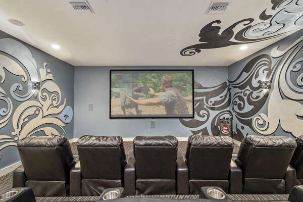 Head upstairs to the second floor for your private home movie theatre