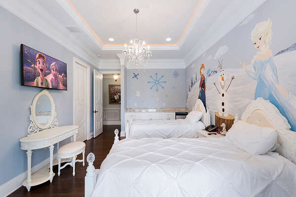The princess will have the best time in their bedroom