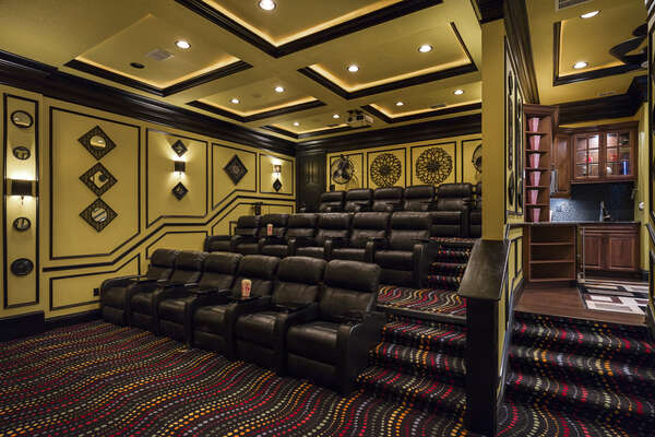 8 stadium style seats in the home theater