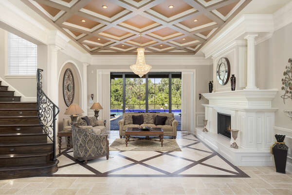 Instantly be welcomed by this fabulous seating area