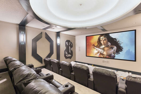 Watch your favorite movie with your family in the private theater room