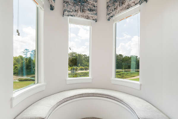 Relax in this reading nook with breathtaking views
