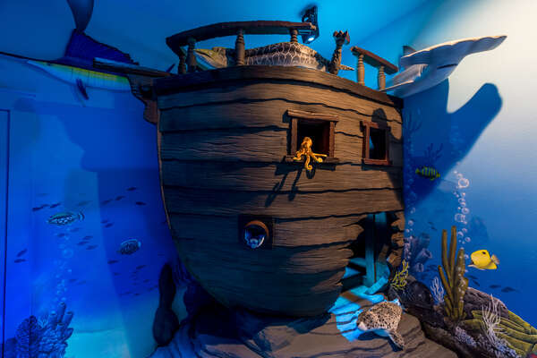 With the under the sea theme, all the kids will have fun in this room