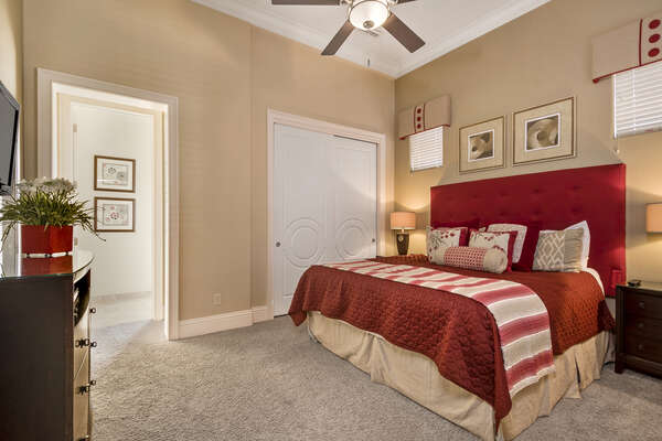 King master suite 6 located on the second floor has a 32-inch TV