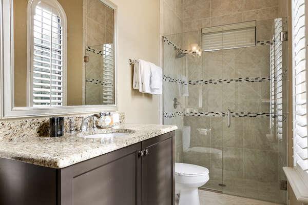 En-suite bathroom 2 has a walk-in shower