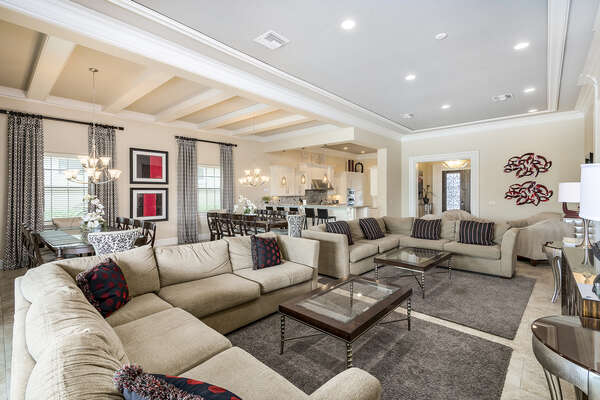 Entertain all your guests in this home with the open floor plan