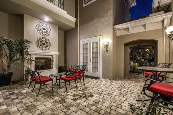 Your private courtyard is great for relaxing and enjoying each other's company on comfortable outdoor furniture