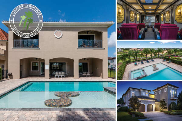 Vacation in Muirfield Bliss, a  luxurious 8 bedroom villa with games room, theater, and private pool | Photos Taken: October 2017