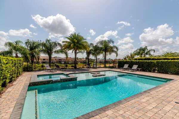 Take a dip in the beautiful resort style pool
