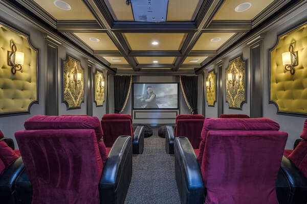Catch a movie in the private theater room