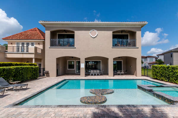 Catch the Florida sun in the private pool