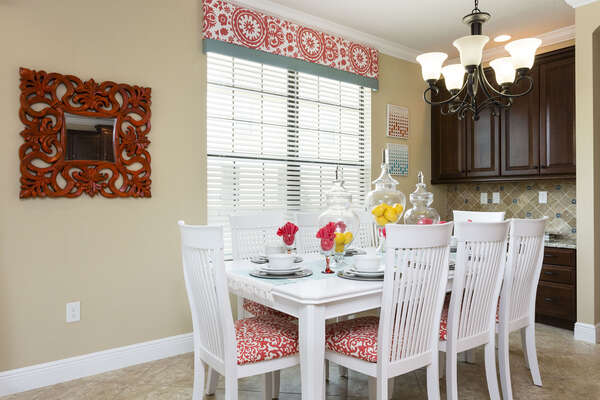 Beautiful dining table with seating for 8