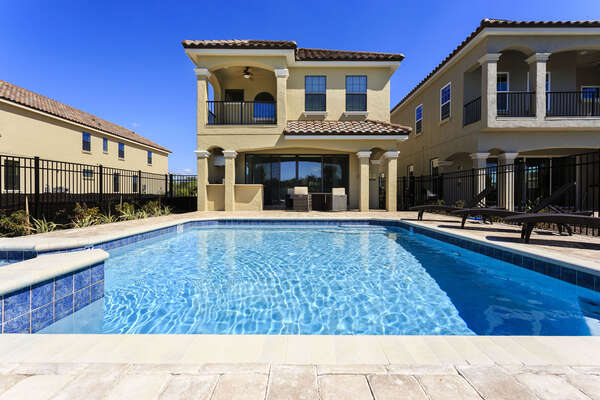 Soak in the Florida Sun with the west facing pool