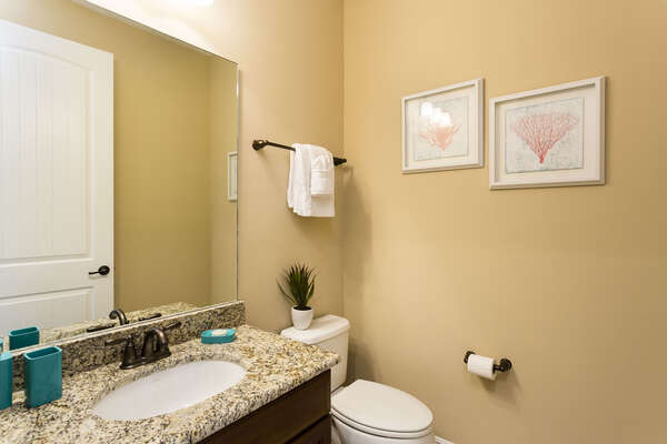 A half bath is located by the loft area