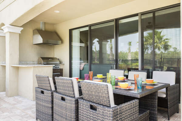 Dine al fresco by the pool area