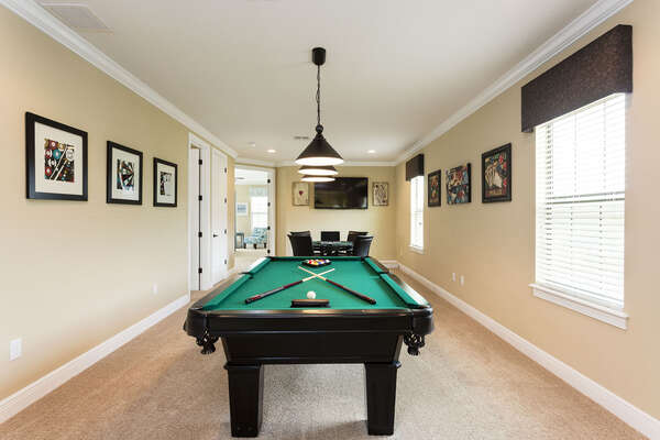 Play a game of pool on the second floor loft