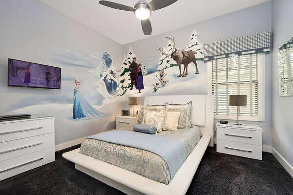Bedroom 5 features a queen size bed