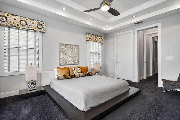Have a goodnight sleep in the second floor master suite