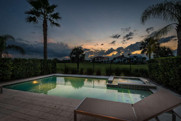 Magical evenings with view of the private golf course