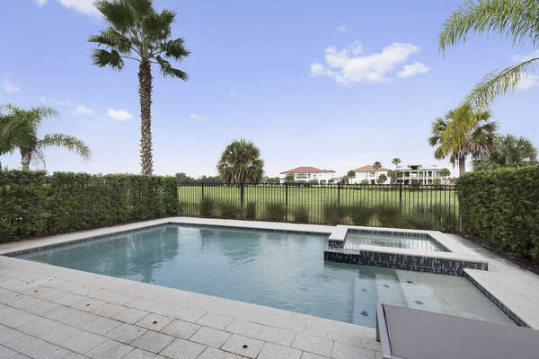 Soak up the sun in the west facing private pool