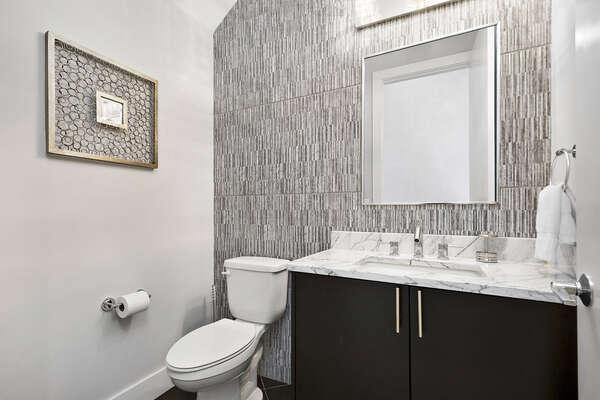 A half bathroom located on the ground floor