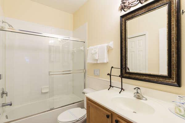 Full shared bathroom