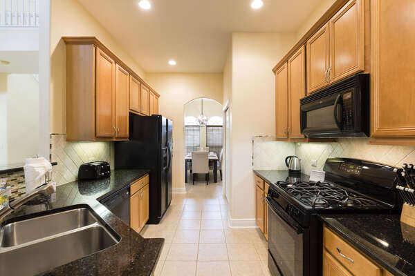 Fully-equipped kitchen for your stay