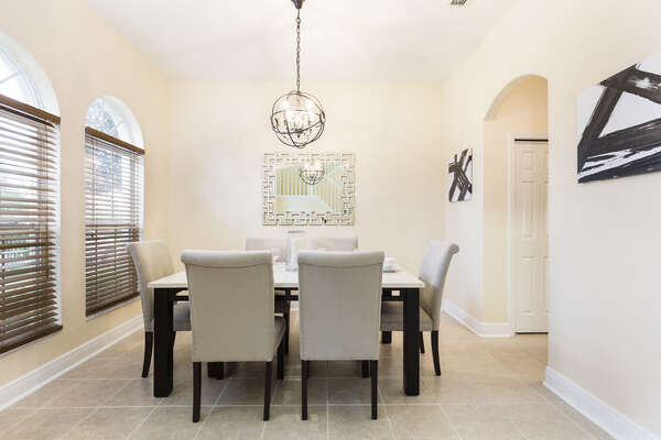 Spacious dining area for you and your family