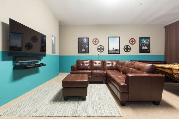 You can kick back and watch a movie in the games room