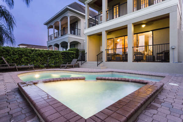Spend evenings by your private pool and spa