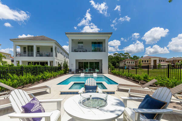 Enjoy the most sun with this southwest facing pool