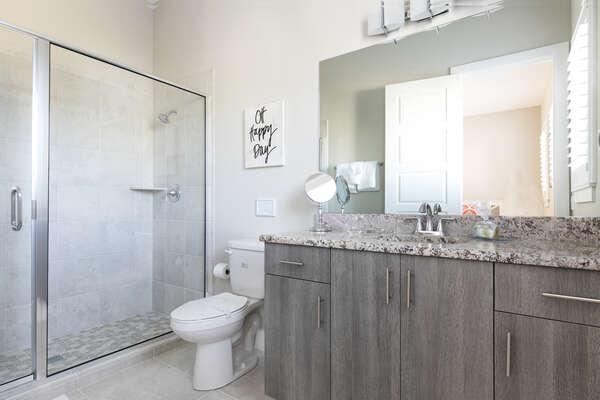 This master bedroom has an ensuite bathroom