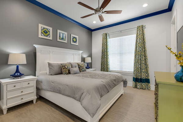 Sleep easy in your second floor bedroom with a king bed and ensuite bathroom