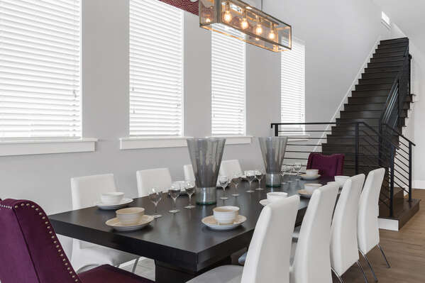 Dine together as a family whilst vacationing