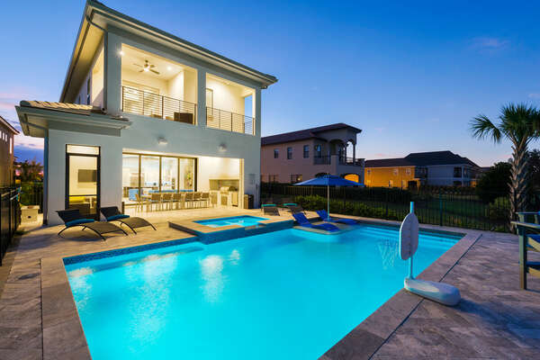 Take an evening dip in your private pool