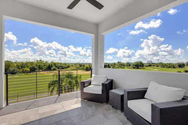 Unwind with a great view of the Grande from your second floor balcony