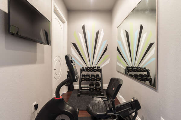 A second fitness room located on the second floor
