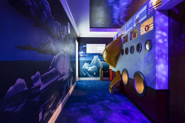 The suite comes to life at night with the glow-in-the-dark features