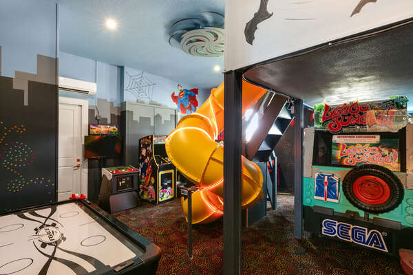 There is endless fun in the games room