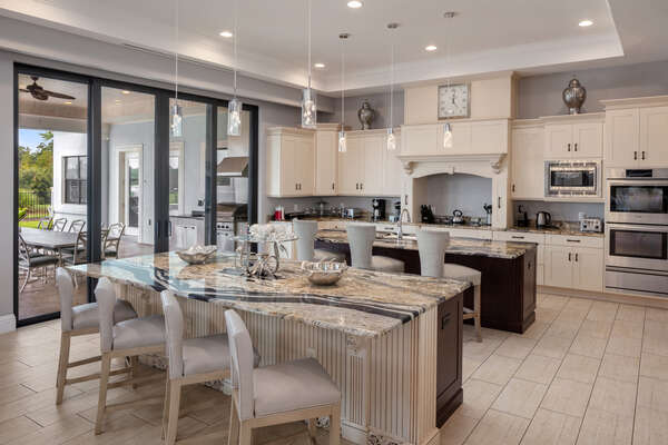 The gourmet kitchen will allow you to prepare a home cooked meal