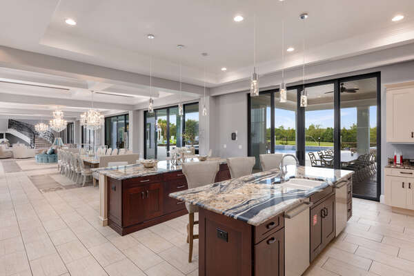 Enjoy the beautiful view while preparing those home cooked meals