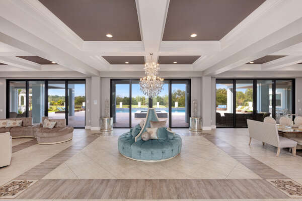 Breathtaking views from the beautiful foyer area