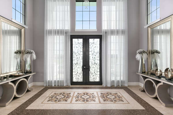 Luxurious front entry