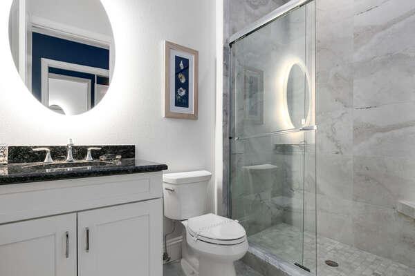 En-suite bathroom features walk-in shower